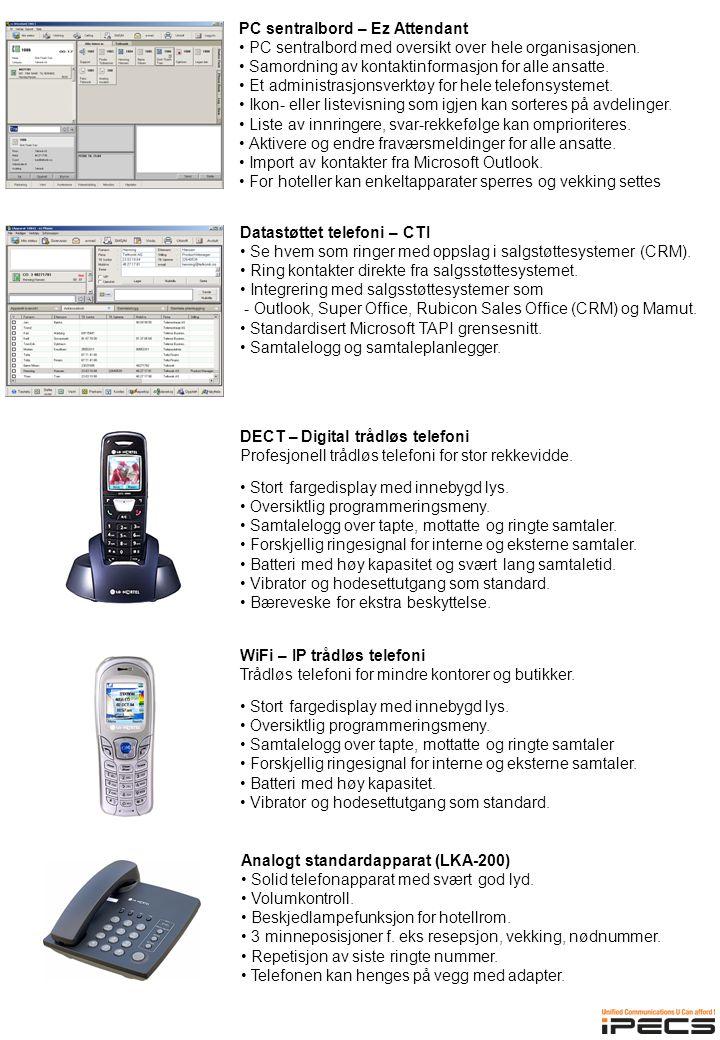 Analogt standardapparat (LKA-200) • Solid telefonapparat med svært god lyd.
