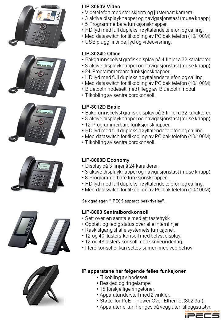 LIP-8050V Video • Videtelefon med stor skjerm og justerbart kamera.