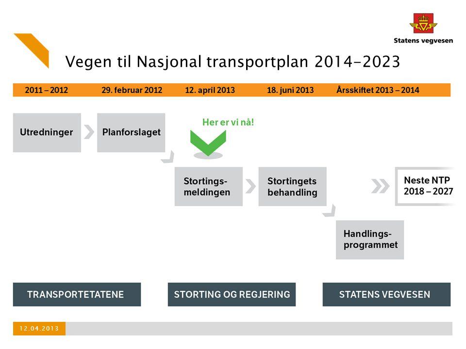 Vegen til Nasjonal transportplan 2014-2023 12.04.2013