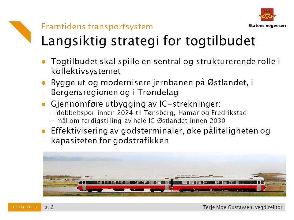 Langsiktig strategi for togtilbudet Framtidens transportsystem ● Togtilbudet skal spille en sentral og strukturerende rolle i kollektivsystemet ● Bygg