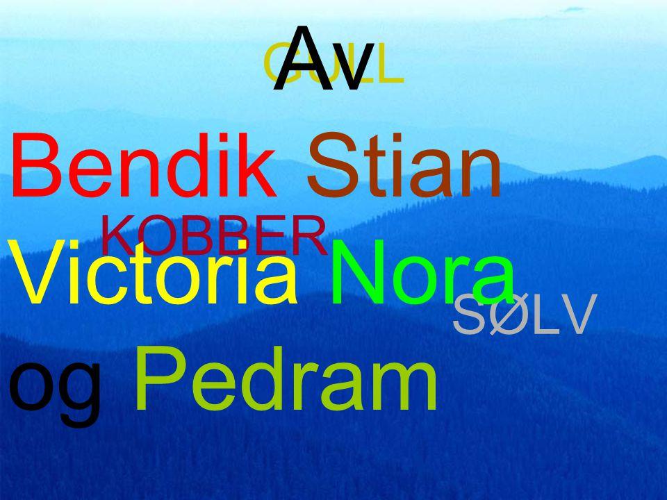 GULL KOBBER SØLV Av Bendik Stian Victoria Nora og Pedram