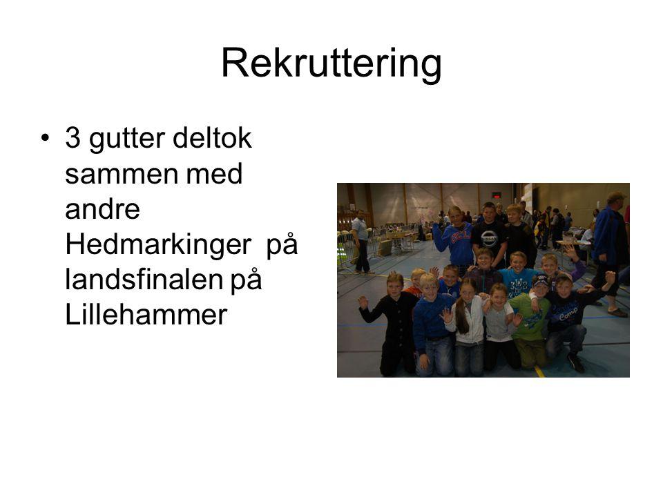 Rekruttering •3 gutter deltok sammen med andre Hedmarkinger på landsfinalen på Lillehammer