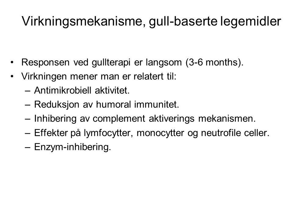 Virkningsmekanisme, Auranofin •Må sees på som et prodrug.