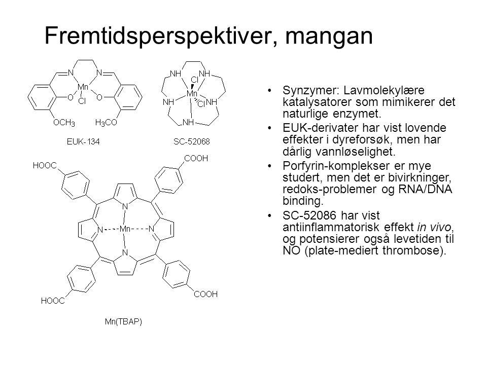 Fremtidsperspektiver, andre metaller •Cu(II)-komplekser med NSAIDS.