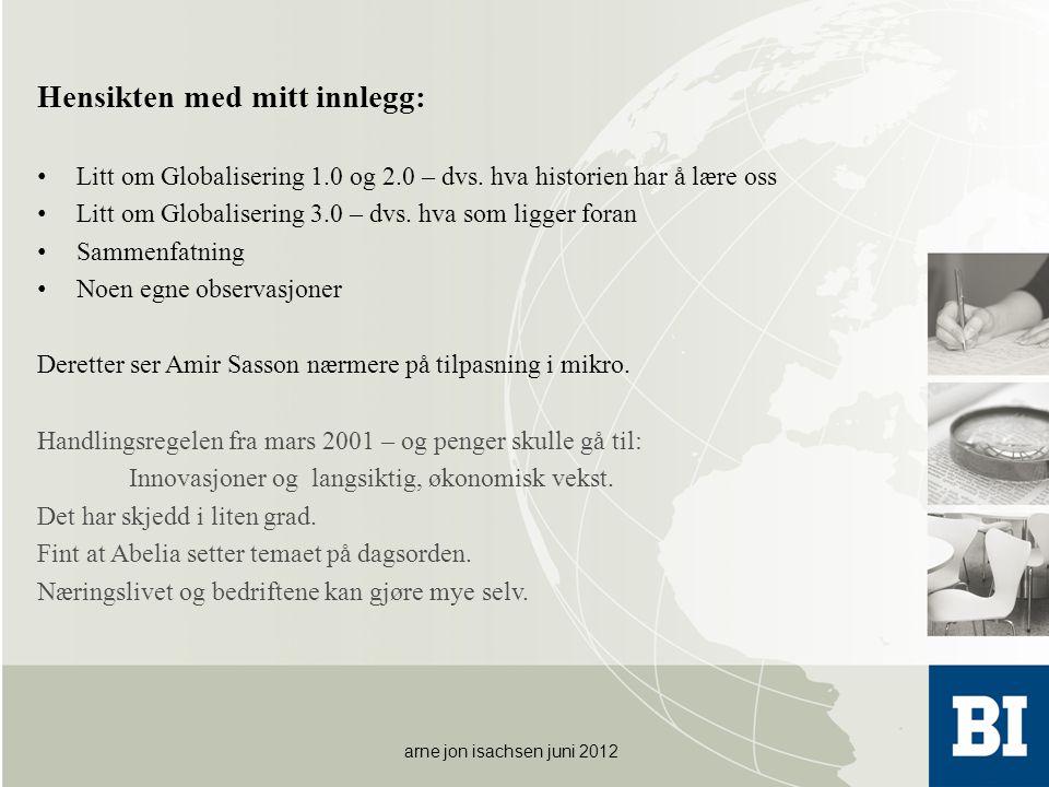 Annen type motivasjon • Ta godt imot , sa Dan Børge Akerø på TV for mange år siden.