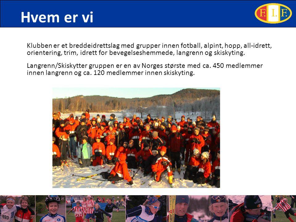 Hvem er vi Klubben er et breddeidrettslag med grupper innen fotball, alpint, hopp, all-idrett, orientering, trim, idrett for bevegelseshemmede, langre