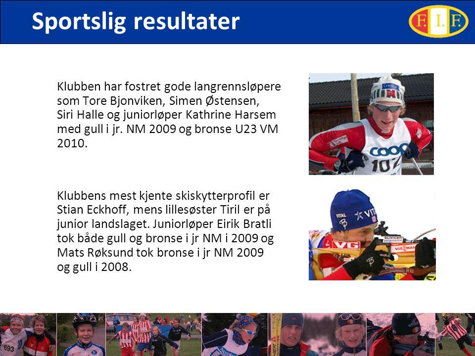 Sportslig resultater Klubben har fostret gode langrennsløpere som Tore Bjonviken, Simen Østensen, Siri Halle og juniorløper Kathrine Harsem med gull i