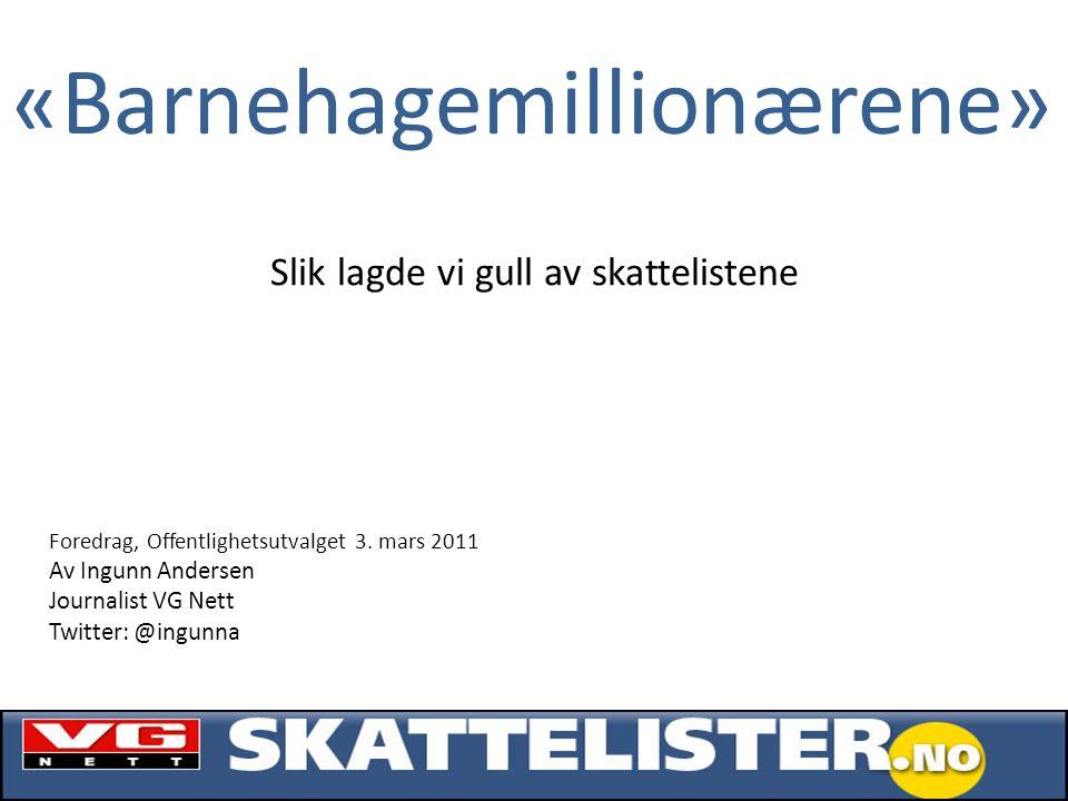«Barnehagemillionærene» Foredrag, Offentlighetsutvalget 3.