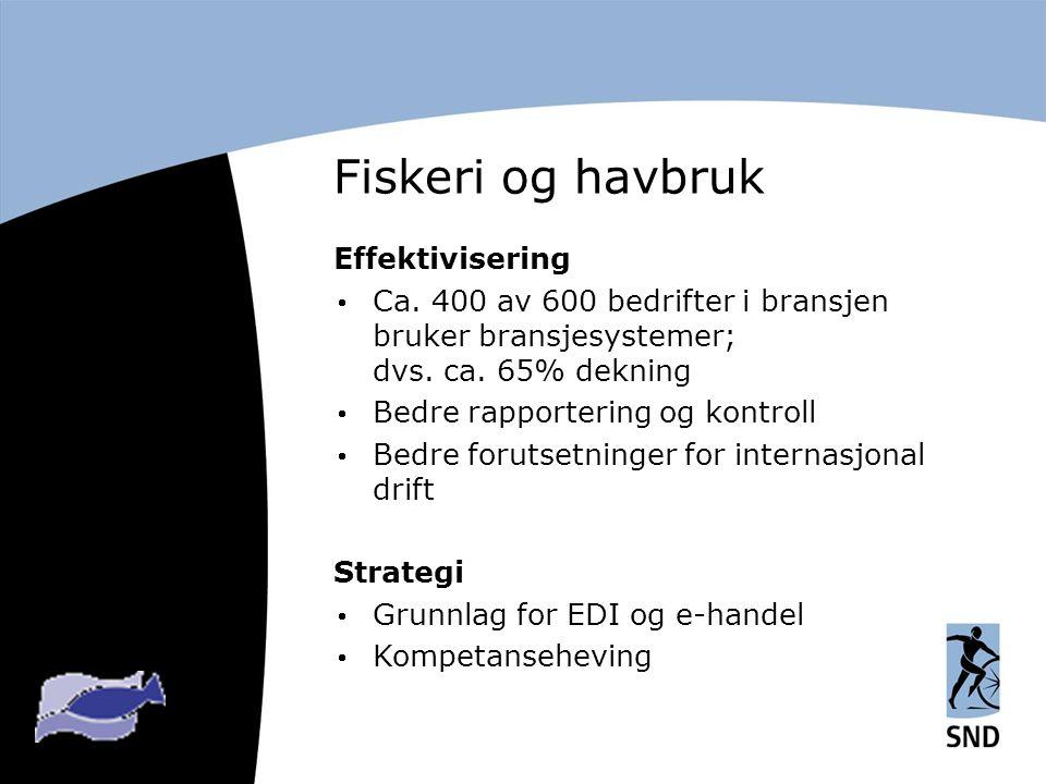 Fiskeri og havbruk Effektivisering  Ca.
