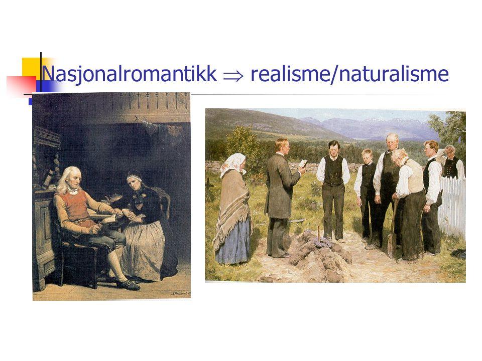 Nasjonalromantikk  realisme/naturalisme