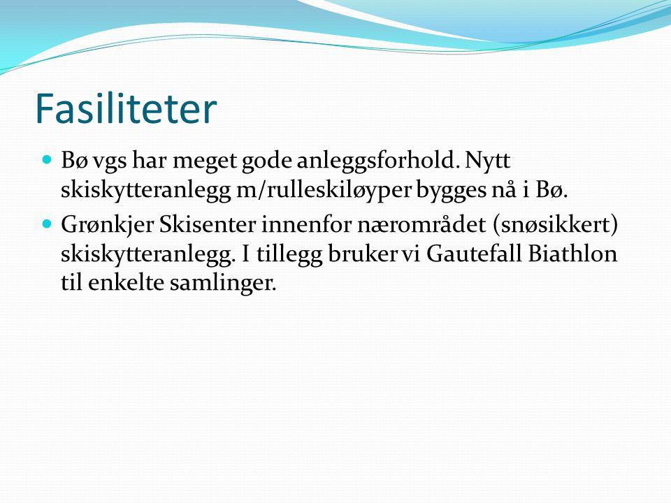 Fasiliteter  Bø vgs har meget gode anleggsforhold.