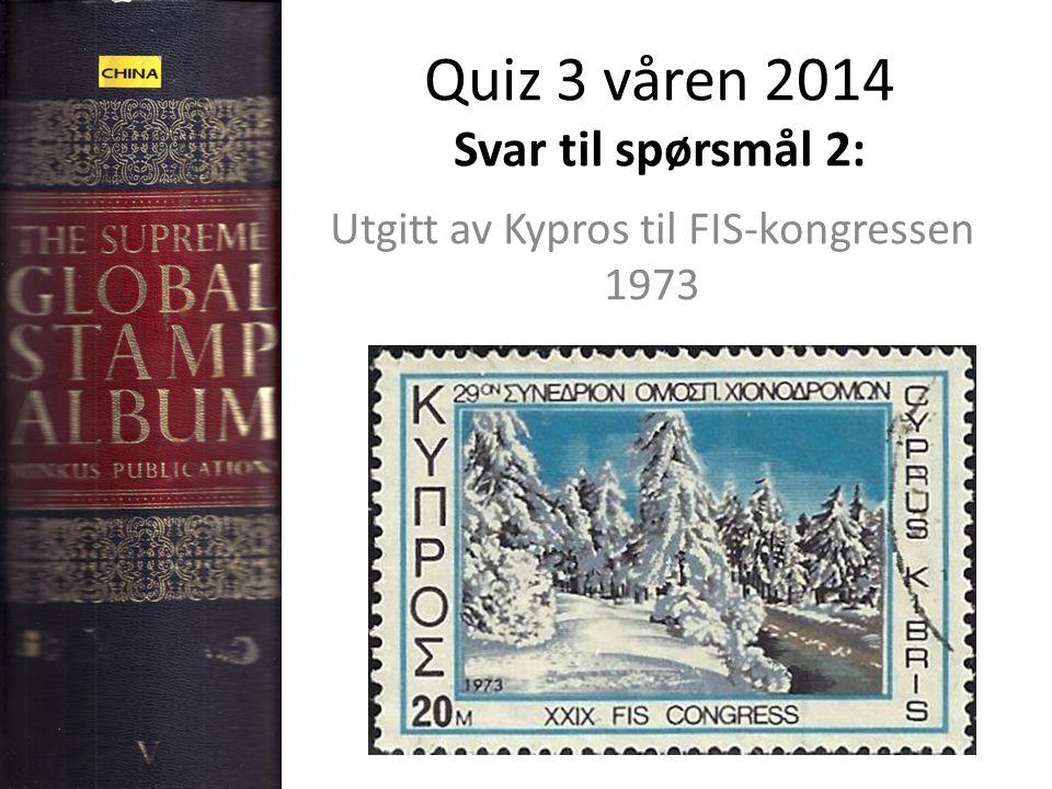Quiz 3 våren 2014 Svar til spørsmål 3: Skiløperen er (trolig) fra Slovakia: