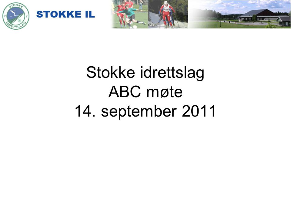 Stokke idrettslag ABC møte 14. september 2011