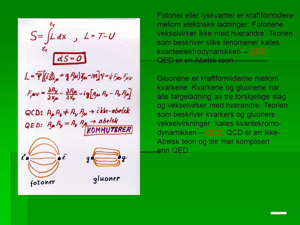Fotoner eller lyskvanter er kraftformidlere mellom elektriske ladninger. Fotonene vekselvirker ikke med hverandre. Teorien som beskriver slike fenomen