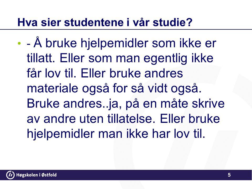 Situasjonsbeskrivelse •1.Student A vet at student B er veldig flink i dette faget og ber om hjelp.