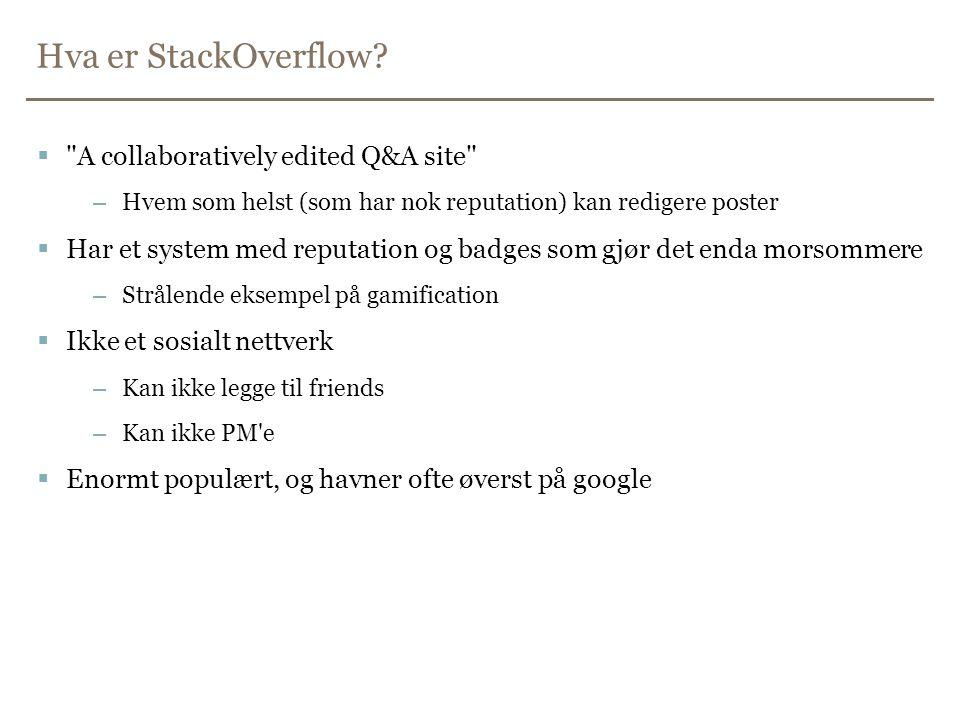 Hva er StackOverflow.