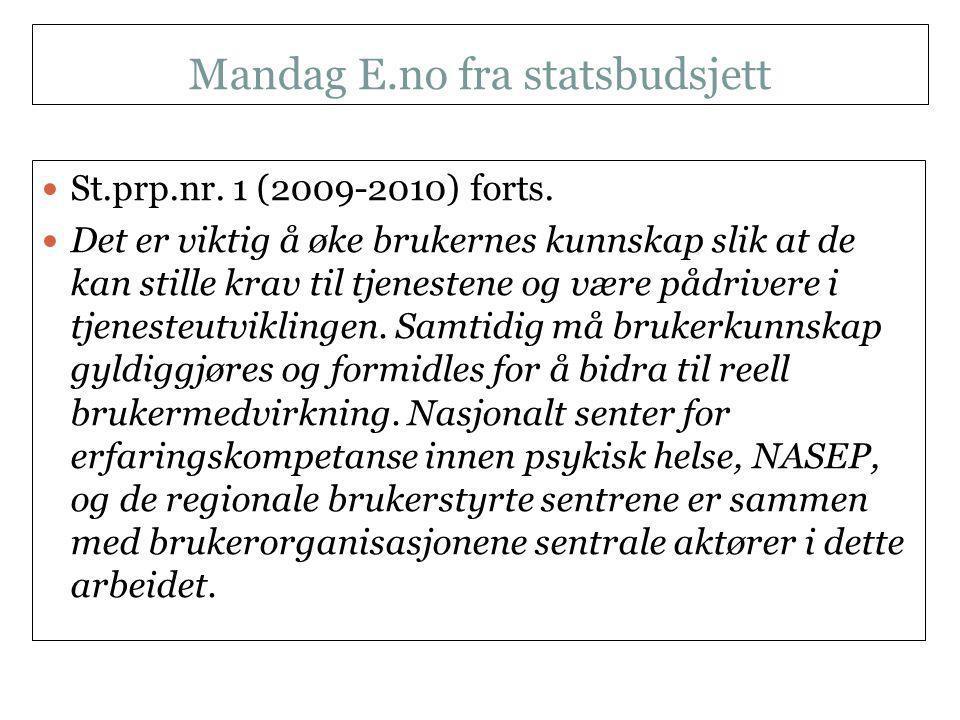 Mandag E.no fra statsbudsjett NKLMS 21.09.11  St.prp.nr.