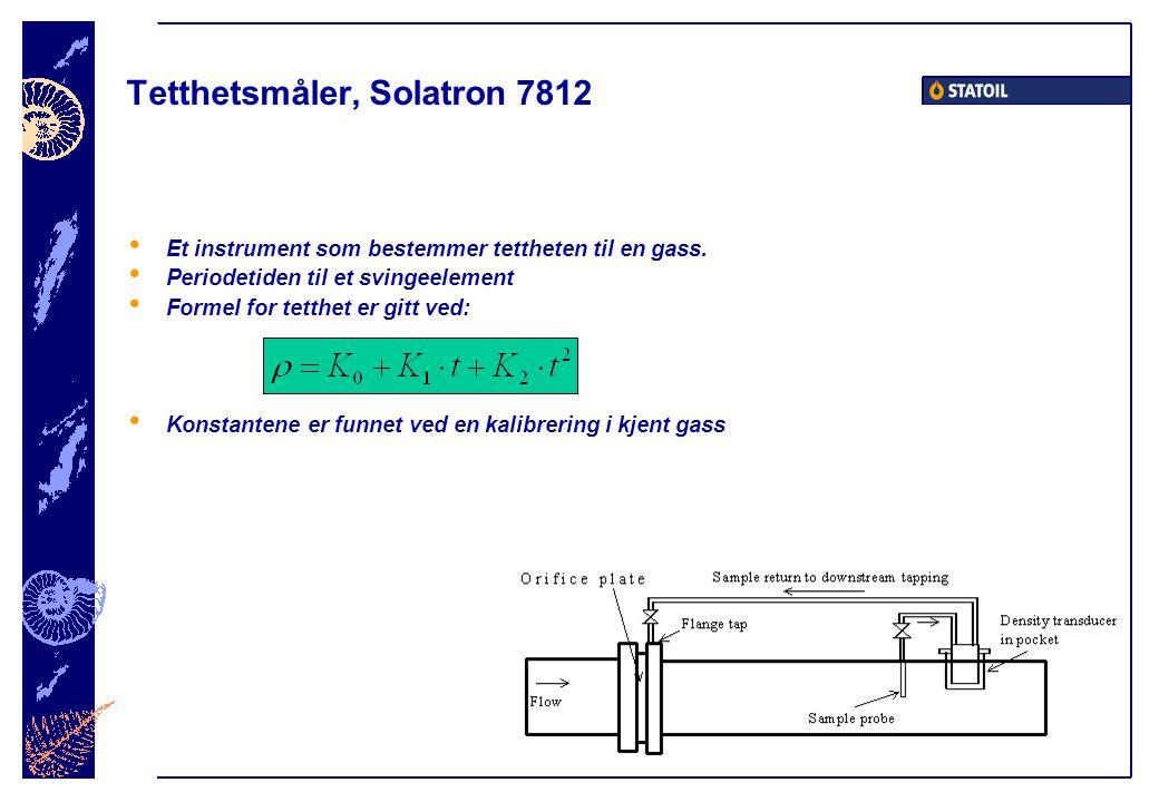 Tetthetsmåler, Solatron 7812 • Et instrument som bestemmer tettheten til en gass.