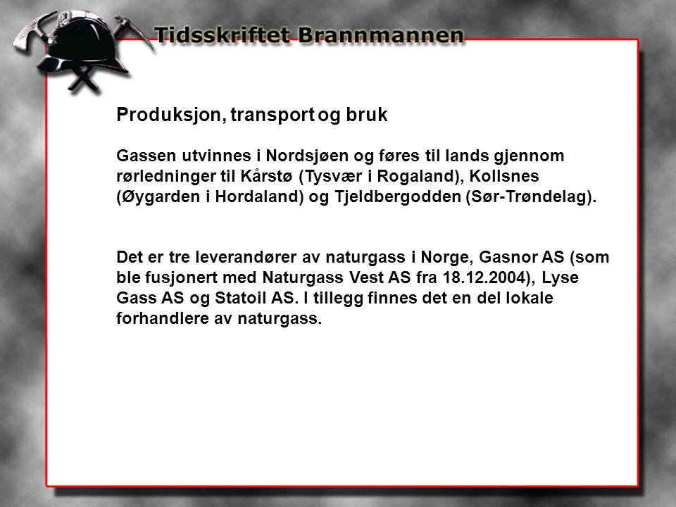 Produksjon, transport og bruk Gassen utvinnes i Nordsjøen og føres til lands gjennom rørledninger til Kårstø (Tysvær i Rogaland), Kollsnes (Øygarden i Hordaland) og Tjeldbergodden (Sør-Trøndelag).