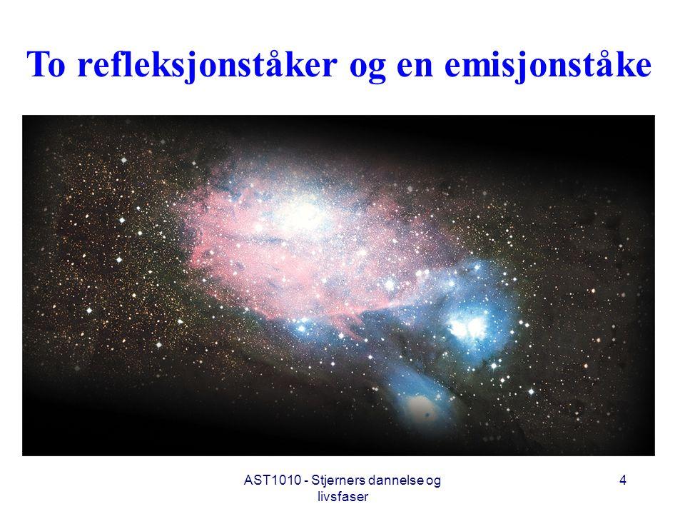 AST1010 - Stjerners dannelse og livsfaser 4 To refleksjonståker og en emisjonståke