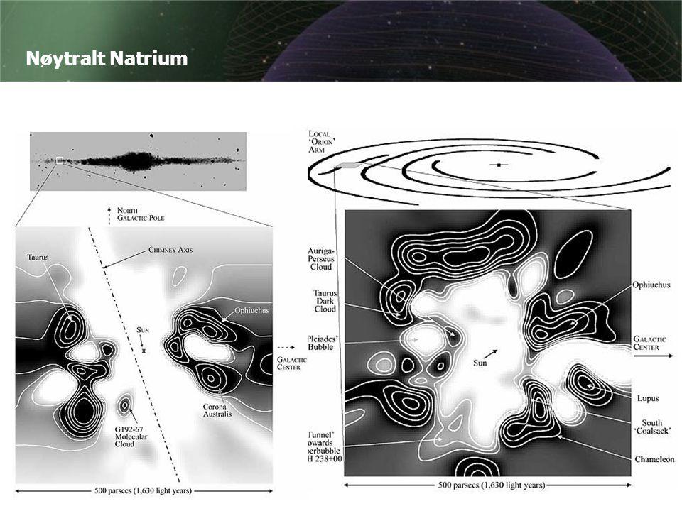 Nøytralt Natrium Astronomen Barry Welsh og hans gruppe fortsetter arbeidet med kartlegging av nøytralt natrium, og kan i 2003 legge fram et svært detaljert kart av gasstettheten innenfor 500 parsec.