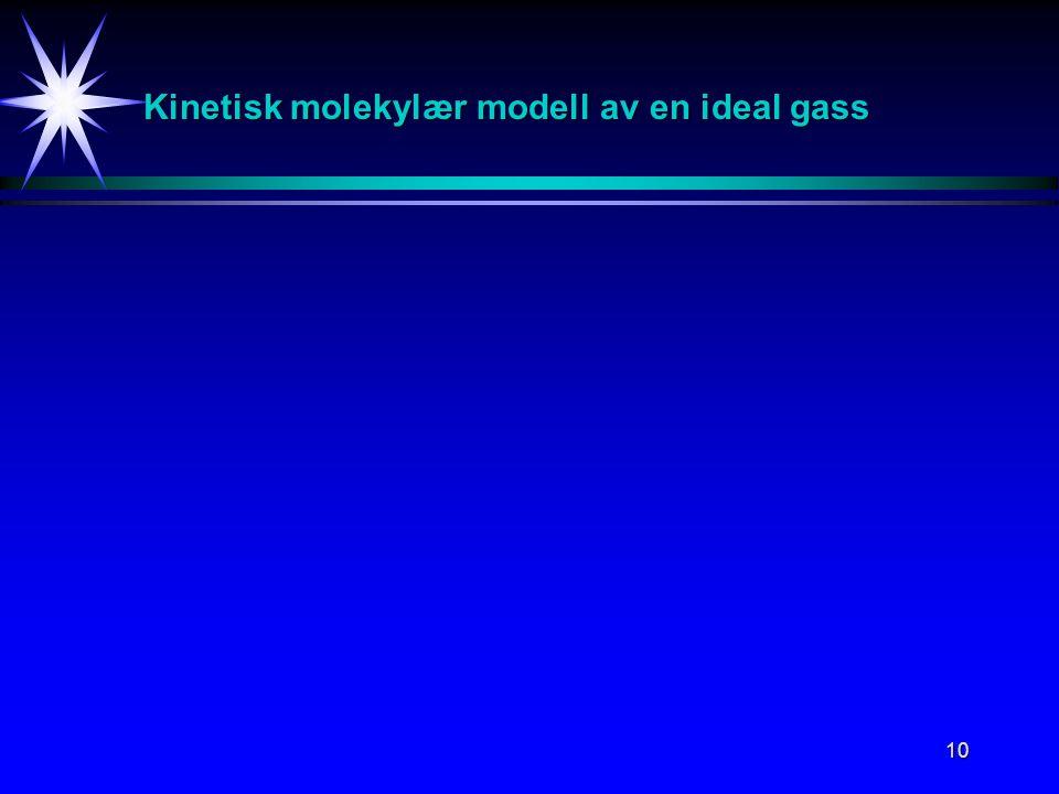 10 Kinetisk molekylær modell av en ideal gass