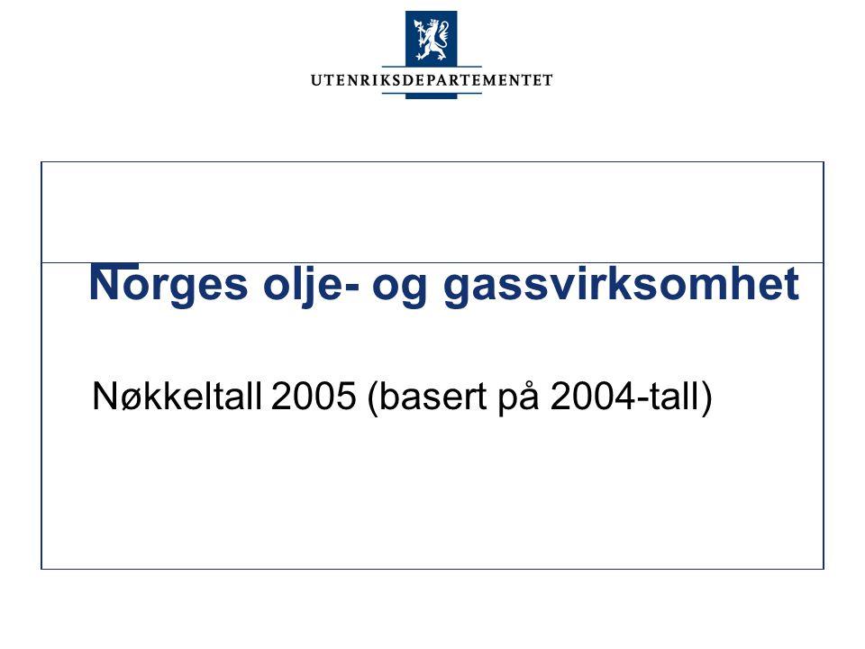 Norges olje- og gassvirksomhet Nøkkeltall 2005 (basert på 2004-tall)