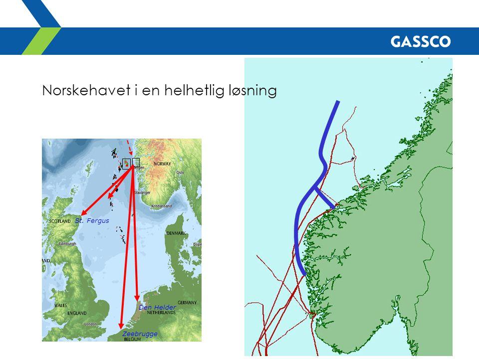 Den Helder Zeebrugge St. Fergus Norskehavet i en helhetlig løsning