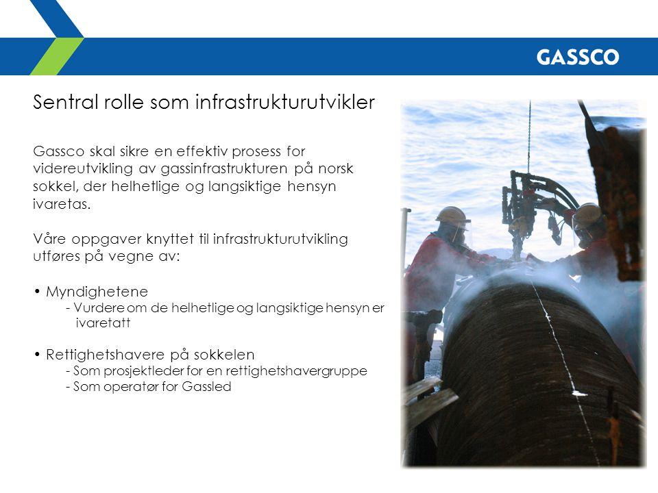 Sentral rolle som infrastrukturutvikler Gassco skal sikre en effektiv prosess for videreutvikling av gassinfrastrukturen på norsk sokkel, der helhetli