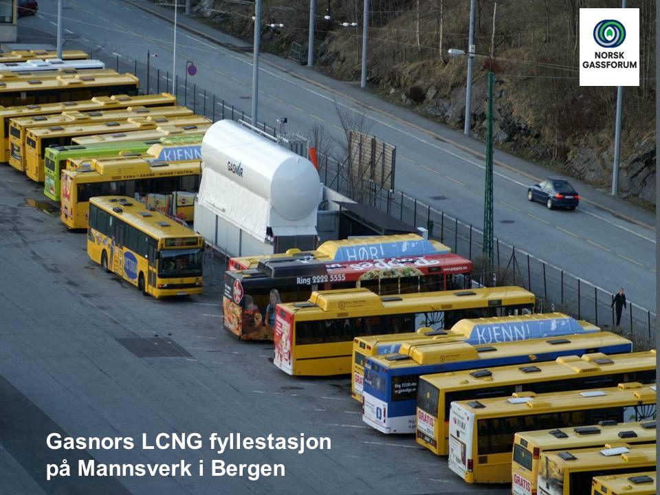 Mannsverk LCNG fyllestasjon Gasnors LCNG fyllestasjon på Mannsverk i Bergen