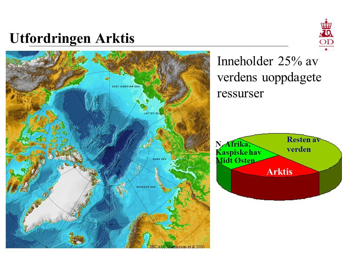 Utfordringen Arktis IBCAO, Martinsson et al 2000 Arktis N.