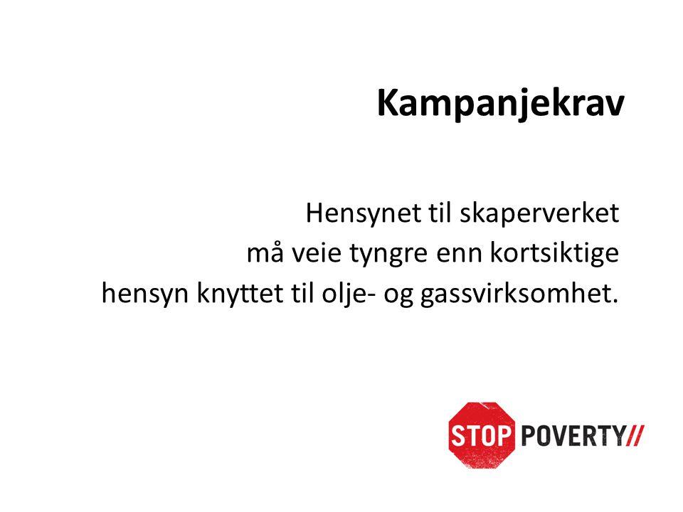 Kampanjekrav 1.Kutte drastisk i Norges CO2 utslipp 2.