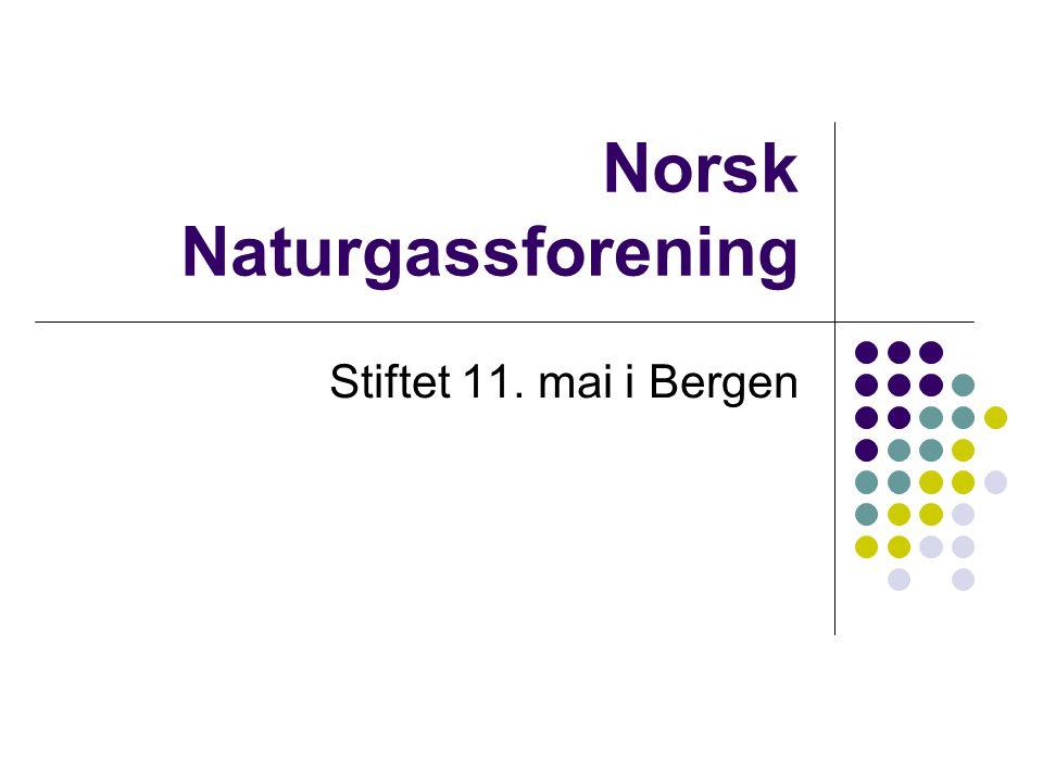 Norsk Naturgassforening Stiftet 11. mai i Bergen