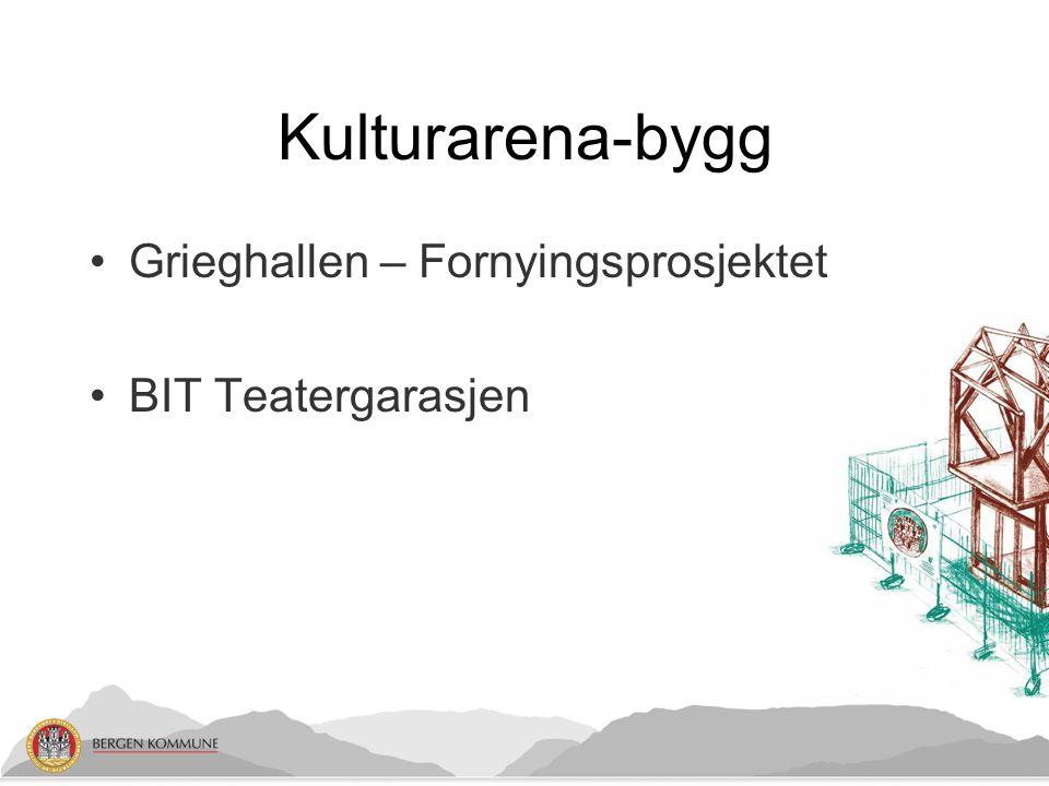 Kulturarena-bygg •Grieghallen – Fornyingsprosjektet •BIT Teatergarasjen