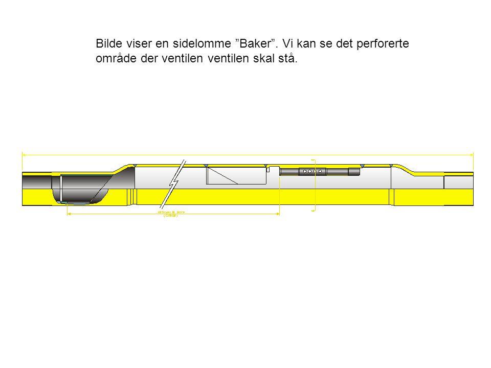 """Bilde viser en sidelomme """"Baker"""". Vi kan se det perforerte område der ventilen ventilen skal stå."""