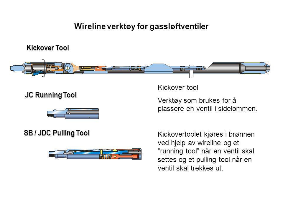 Kickover Tool SB / JDC Pulling Tool JC Running Tool Wireline verktøy for gassløftventiler Kickover tool Verktøy som brukes for å plassere en ventil i