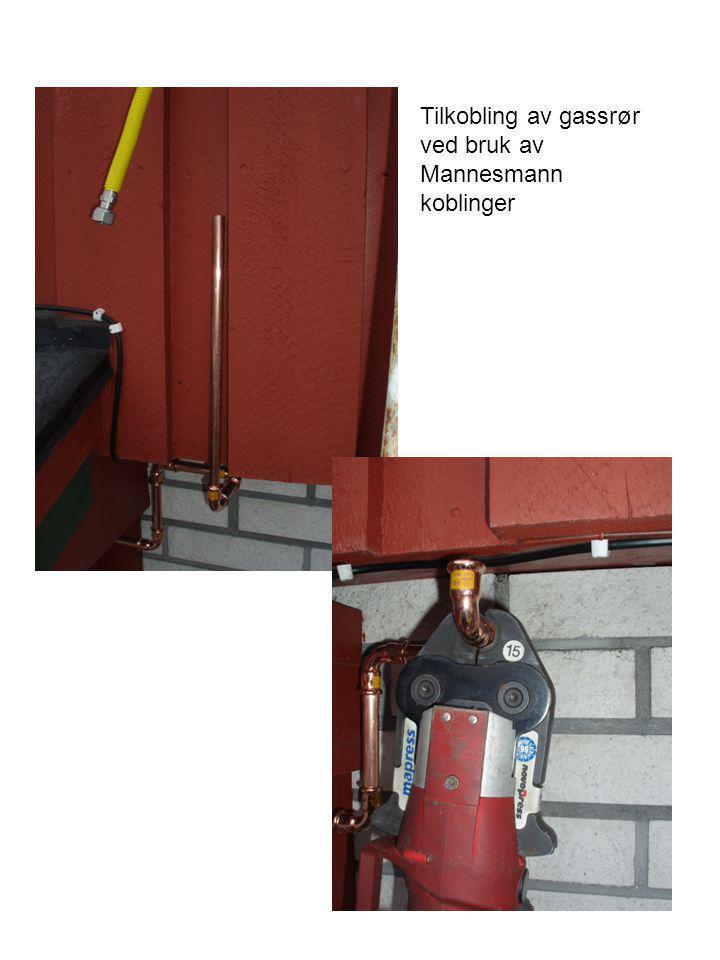 Tilkobling av gassrør ved bruk av Mannesmann koblinger