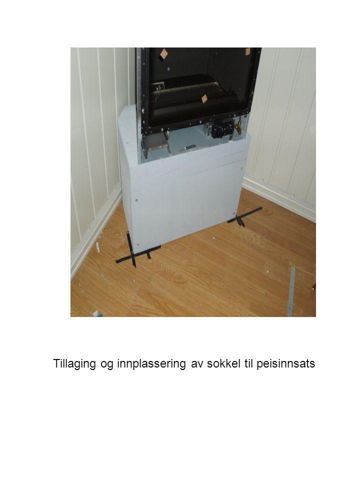 Tilpassing av avgassrør. Opplagring av topplate