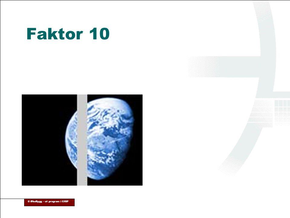 © ØkoBygg – et program i GRIP Faktor 10