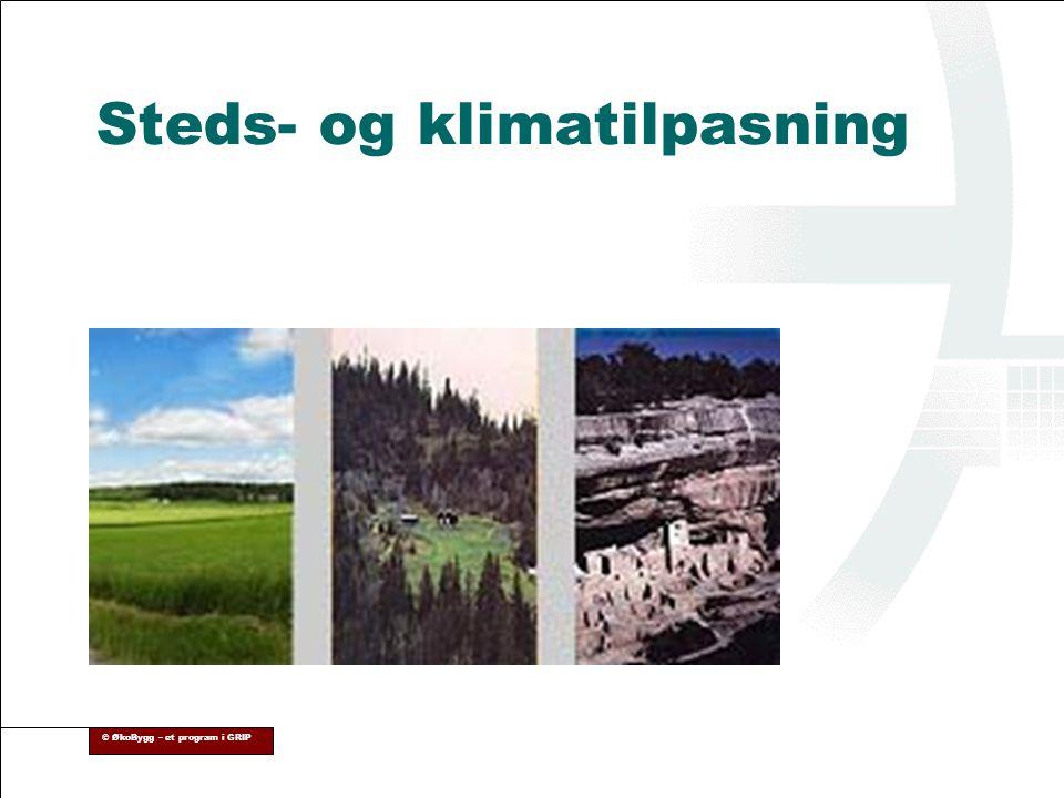 © ØkoBygg – et program i GRIP Steds- og klimatilpasning