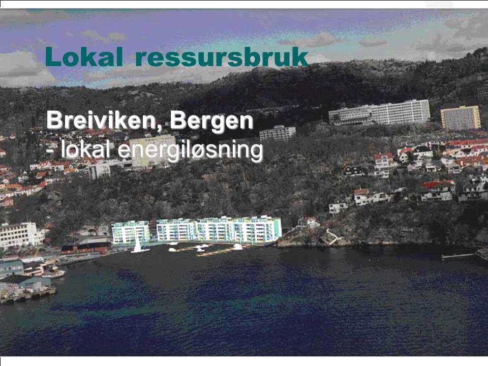 © ØkoBygg – et program i GRIP Breiviken, Bergen - lokal energiløsning Lokal ressursbruk