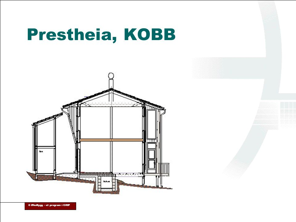 © ØkoBygg – et program i GRIP Prestheia, KOBB