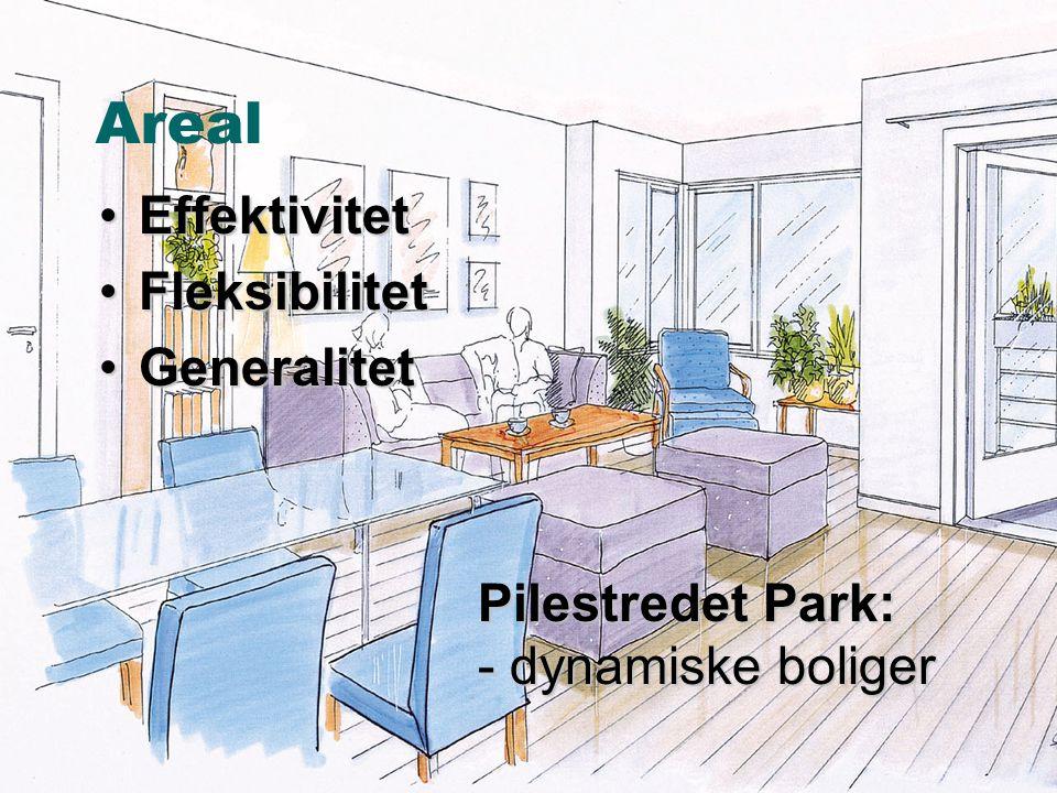 © ØkoBygg – et program i GRIP •Effektivitet •Fleksibilitet •Generalitet Pilestredet Park: - dynamiske boliger Areal