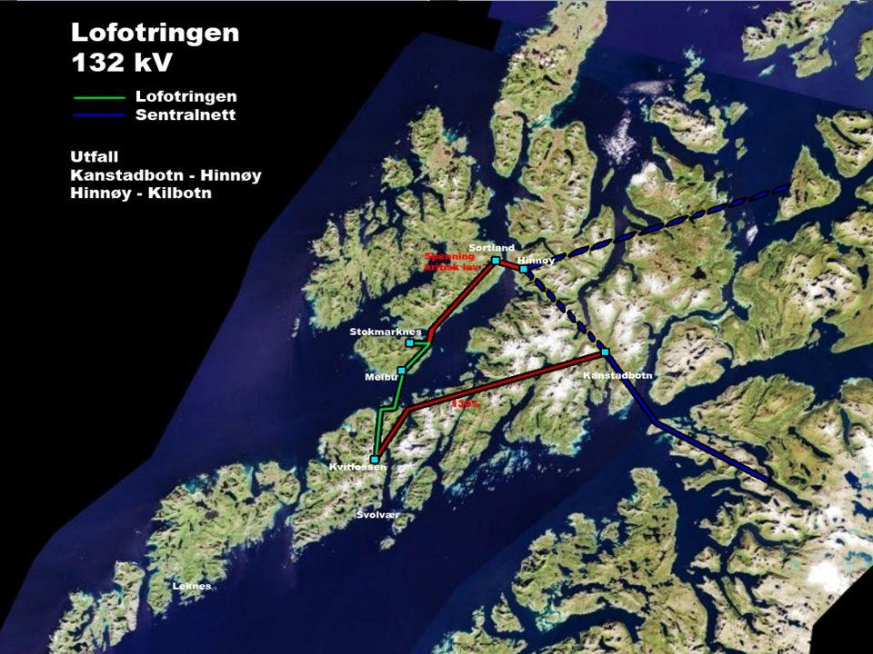 Hendelsesforløp i forbindelse med strømbrudd Hadsel og Lofoten 29.12.09 •Statnett iverksetter plan for deling av nettet på grunn av høg last.