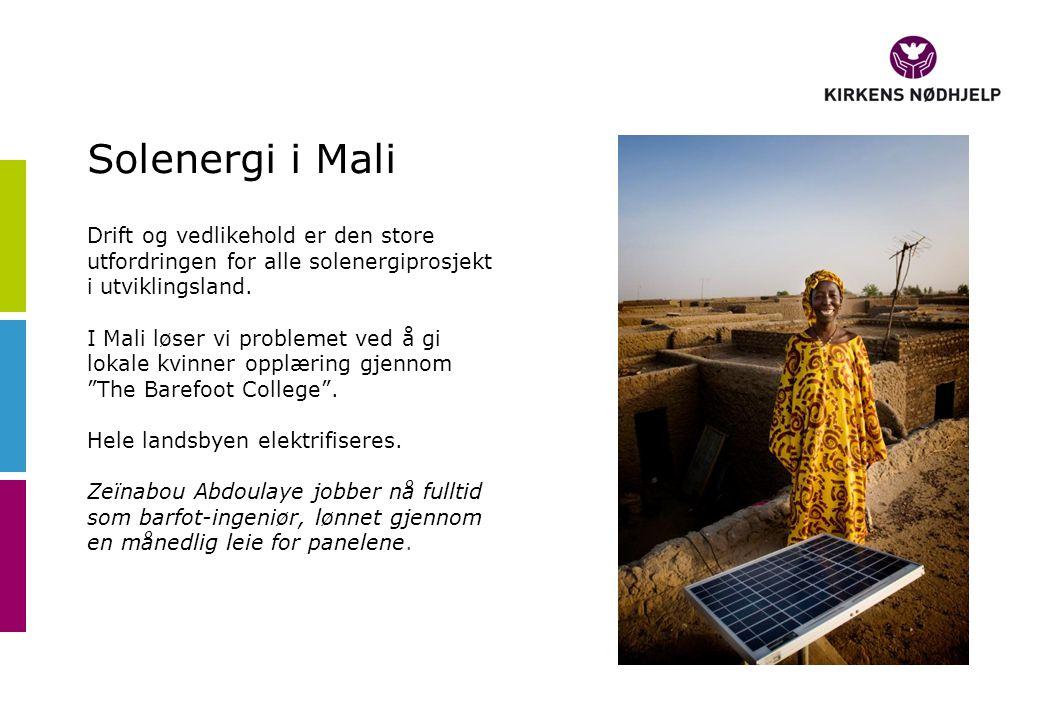Solenergi i Mali Drift og vedlikehold er den store utfordringen for alle solenergiprosjekt i utviklingsland.