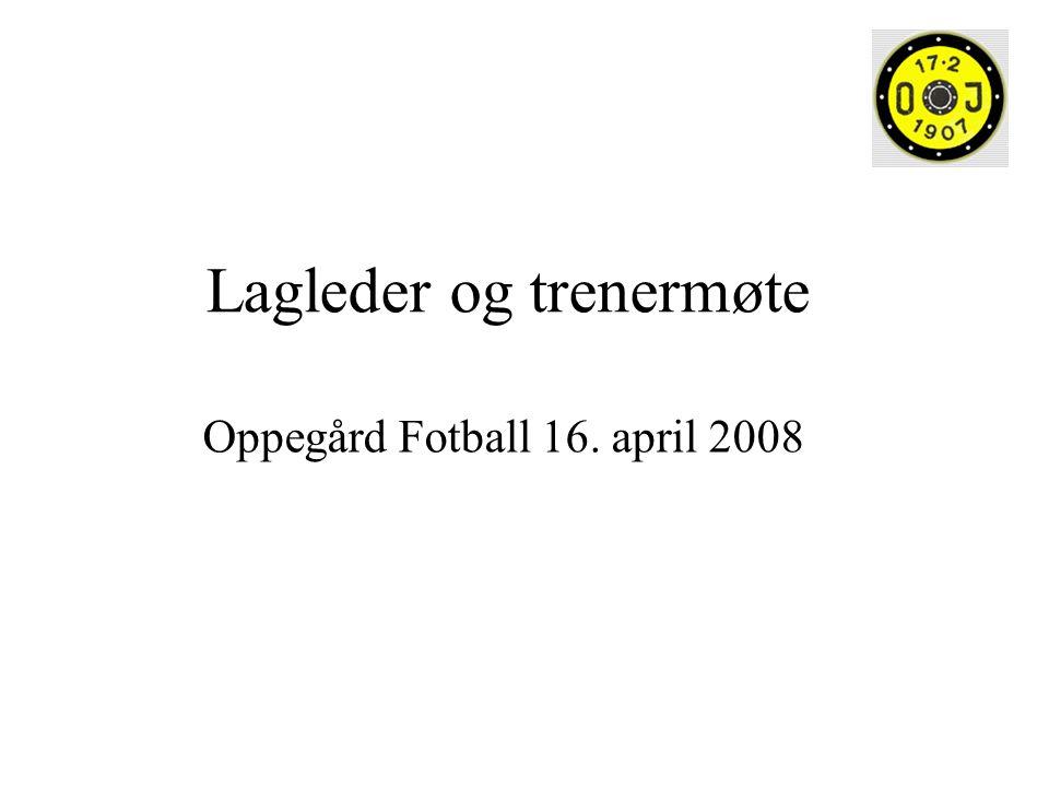 Lagleder og trenermøte Oppegård Fotball 16. april 2008