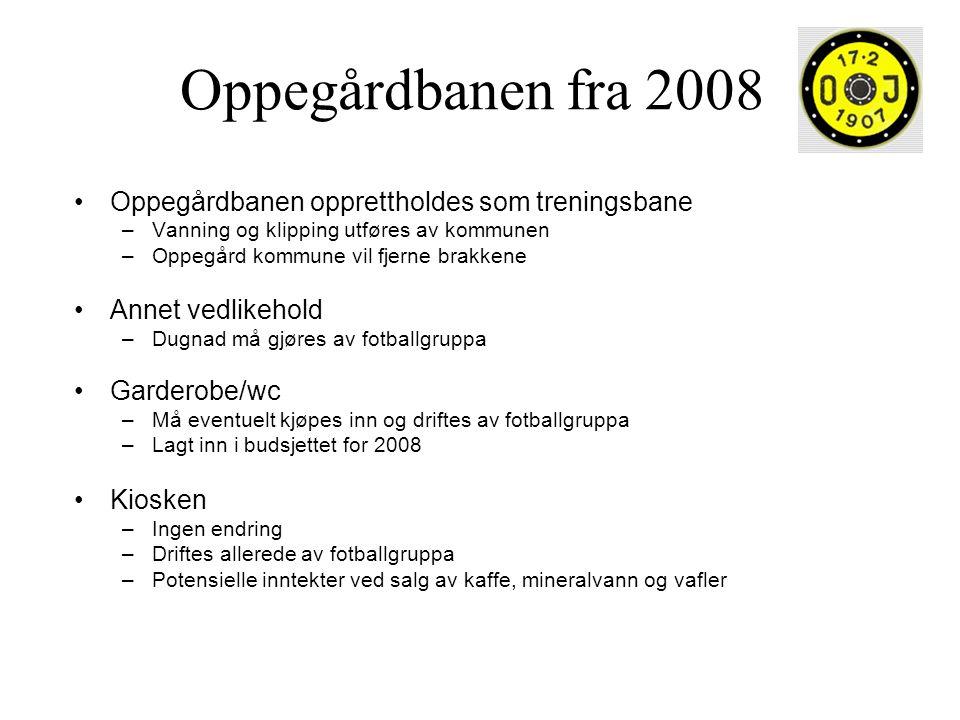Oppegårdbanen fra 2008 •Oppegårdbanen opprettholdes som treningsbane –Vanning og klipping utføres av kommunen –Oppegård kommune vil fjerne brakkene •A