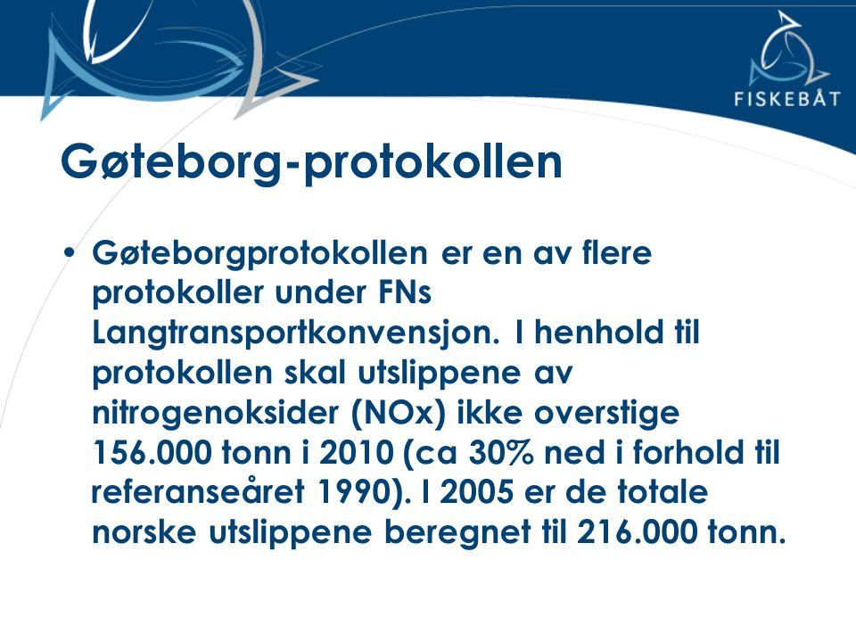 Gøteborg-protokollen • Gøteborgprotokollen er en av flere protokoller under FNs Langtransportkonvensjon. I henhold til protokollen skal utslippene av
