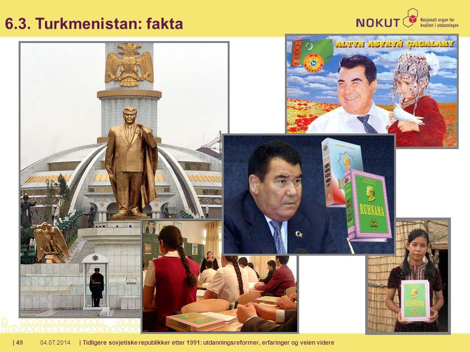 04.07.2014| Tidligere sovjetiske republikker etter 1991: utdanningsreformer, erfaringer og veien videre| 49 6.3.