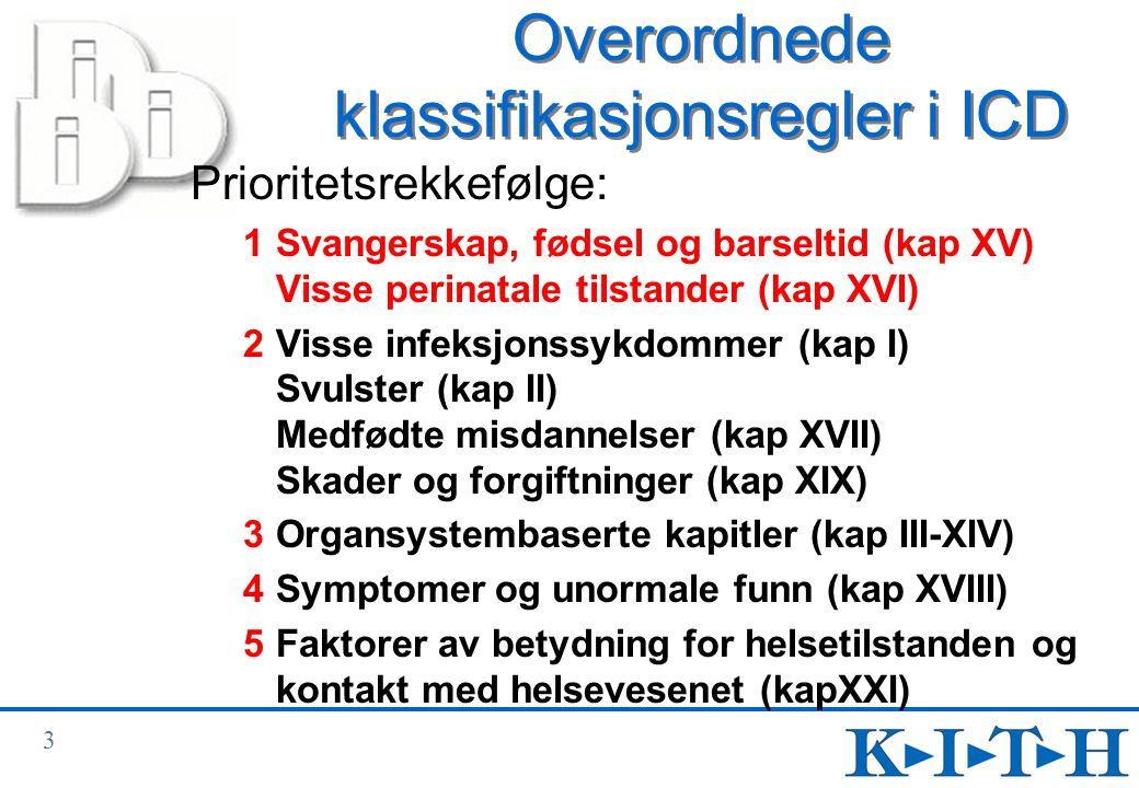 14 Sverd- og stjernekoder (6) Wallenbergs syndrom Syndrom pga okklusjon i lillehjernens bakre nedre arterie I66.3 Okklusjon og stenose av cerebellare arterier G46.3* Syndrom som skyldes hjerne- stammeslag (I60-I67 † ) Syndrom: • Benedikts • Wallenbergs